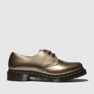 Dr Martens Gold 1461 Vegan Chrome Flat Shoes