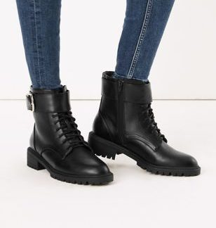 M&S Collection Side Buckle Hiker Ankle Boots
