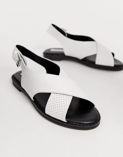 Matt & Nat cross strap sandals in white