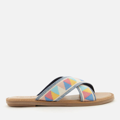 TOMS Women's Viv Cross Front Slide Sandals - Multi Tribal