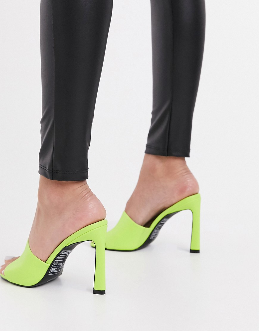 Call It Spring by ALDO Divinee vegan heeled sandal in bright green